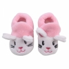 Cute Kitten Pattern Coral Velvet Baby Walker Shoes Pink  SKU: 25001260